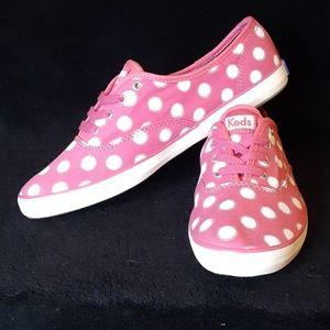 Nwt Keds pink polka dot